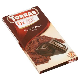 Torras Dark Chocolate with Sweetener 75 g
