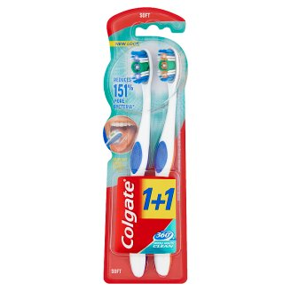Colgate 360° Whole Mouth Clean lágy fogkefe 2 db