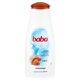 Baba családi sampon és balzsam 2in1 minden hajtípusra mandulaolajjal 400 ml