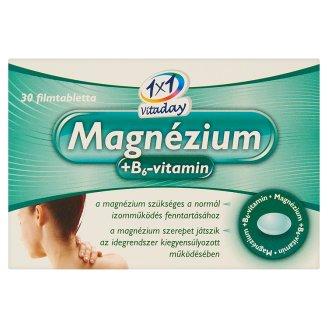 1x1 Vitaday Magnesium + Vitamin B6 Supplement Film-Coated Tablets 30 pcs 10,35 g