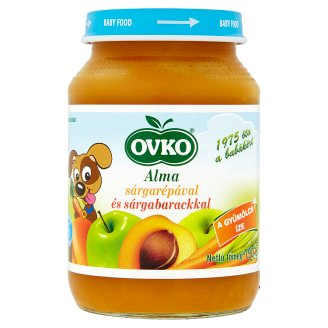 Ovko Gluten- and Dairy-Free Apple-Carrot-Peach Dessert for Babies 6+ Months 190 g
