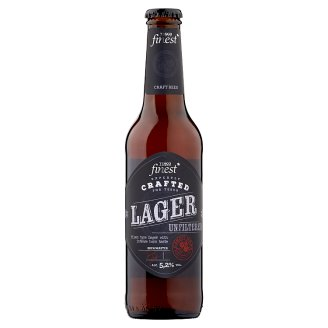 Tesco Finest Unfiltered, Quality Lager Beer 5,2% 330 ml