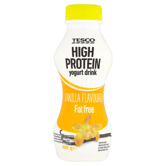 Tesco High Protein Fat Free Vanilla Flavoured Yoghurt Drink with Live Cultures 300 g