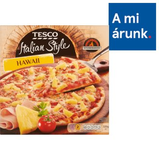 Tesco Italian Style Hawaii Quick-Frozen, Pre-Baked Pizza 320 g