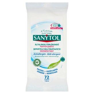 Sanytol Fertőtlenítő Tisztítókendő Antiallergén 24 db