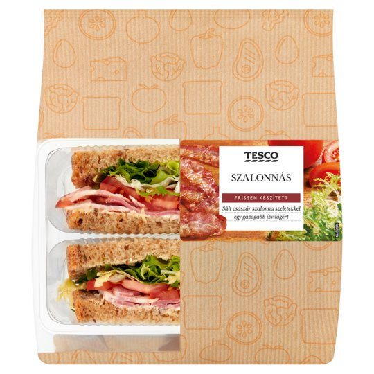 Tesco Sandwich with Tomato, Fried Bacon, Salad and Mayonnaise 154 g