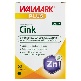 Walmark Zinc Active Food Supplement Tablets 60 pcs 15 g