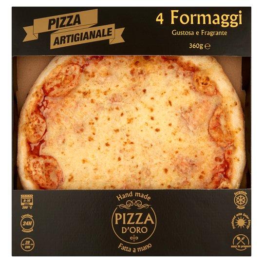 Pizza D'Oro 4 Formaggi gyorsfagyasztott kézműves pizza 360 g