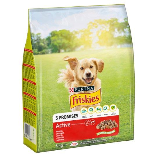 Friskies Vitafit Active teljes értékű állateledel felnőtt kutyák számára marhával 3 kg