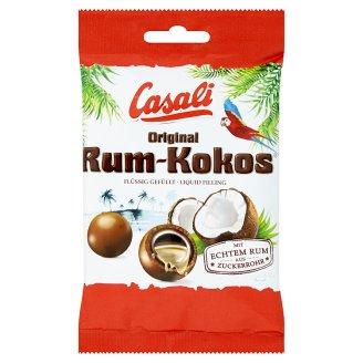 Casali Original Rum-Coconut Dragees with Alcoholic Filling Covered with Chocolate 100 g