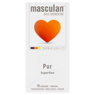 Masculan Pur leheletvékony óvszer síkosító bevonattal és spermagyűjtővel 10 db
