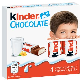 Kinder Milk Chocolate Filled with Milky Cream 4 pcs 50 g