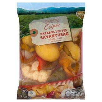 Tesco csípős darabos vegyes savanyúság édesítőszerrel 1200 g