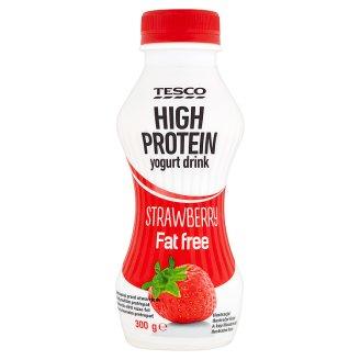 Tesco sovány, fehérjében gazdag, élőflórás, eperízű joghurtital 300 g