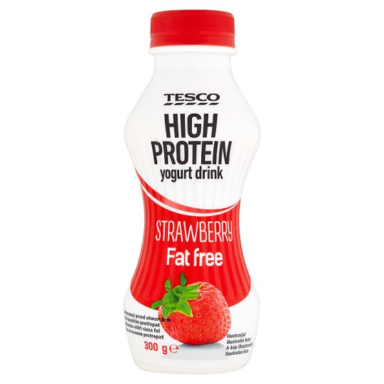 Tesco High Protein Fat Free Strawberry Yoghurt Drink with Live Cultures 300 g