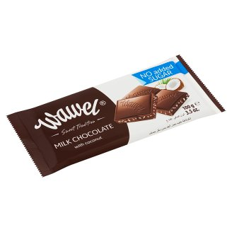 Wawel No Added Sugar Milk Chocolate with Coconut and Sweetener 100 g