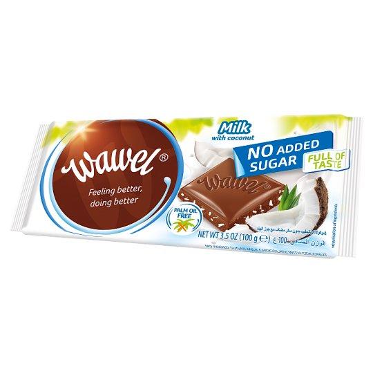 Wawel No Added Sugar Milk Chocolate with Coconut and Sweetener 100 g