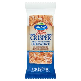 Melvit Mini Crisper Wholegrain Spelt Crispbread with Sunflower Seeds, Sesame and Linseed 30 g