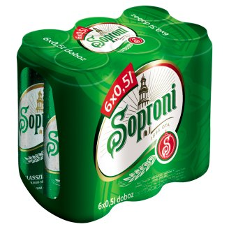 Soproni Lager Beer 4,5% 6 x 0,5 l