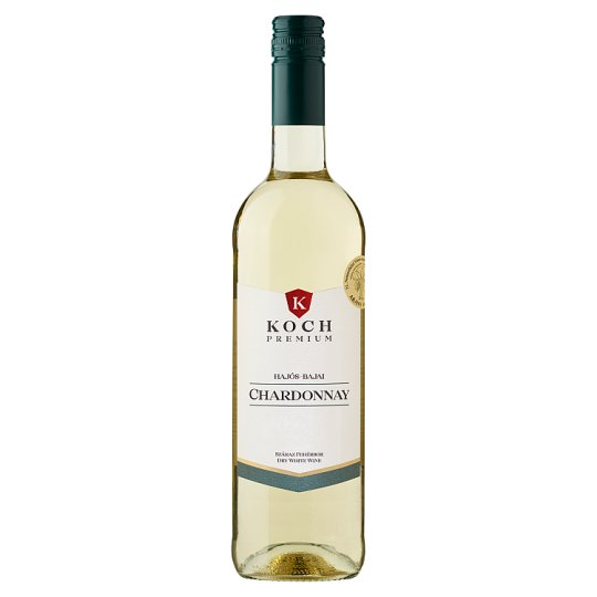 Koch Premium Hajós-Bajai Chardonnay Dry White Wine 13,5% 0,75 l