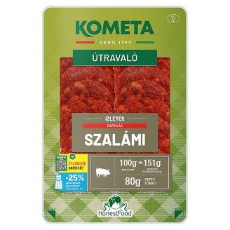 Kométa Sliced Savoury Salami with Pepper 80 g