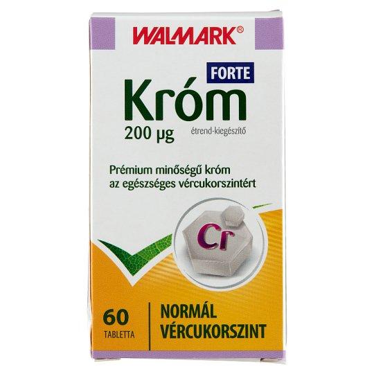 Walmark Chromium 200 µg Forte Food-Supplement Tablets 60 pcs 21,0 g