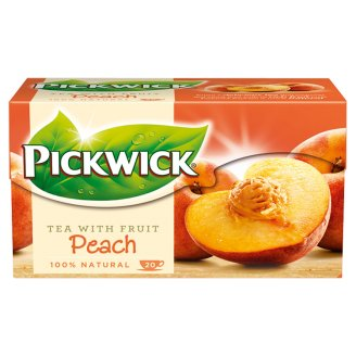 Pickwick Flavoured Black Tea with Peach Pieces 20 Tea Bags 30 g