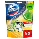 DOMESTOS Power5 WC frissítő blokk Lime 5 x 55 g