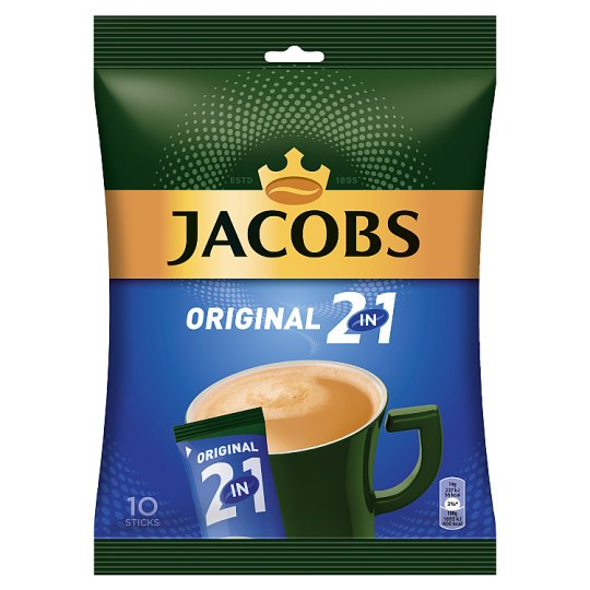 Jacobs Original 2in1 Instant Coffee 10 pcs 140 g