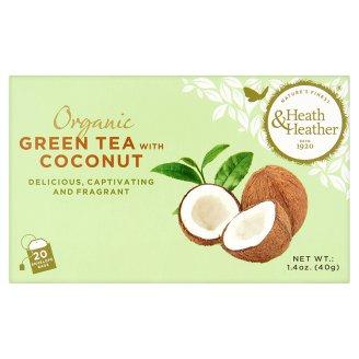 Heath & Heather BIO kókusz és zöld tea 20 filter 40 g
