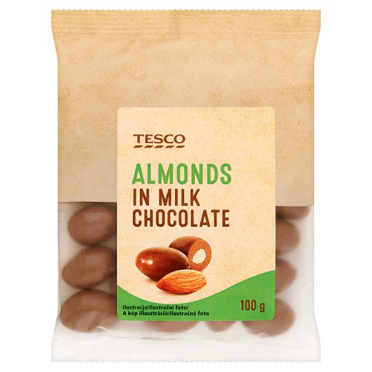 Tesco Almonds in Milk Chocolate 100 g