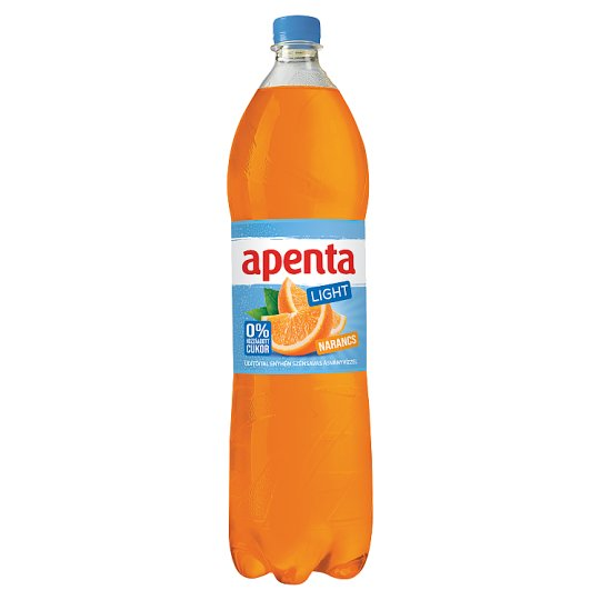 Apenta Light Orange Flavoured Carbonated Natural Mineral Water 1,5 l