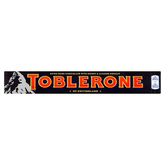 Toblerone Swiss Dark Chocolate with Honey & Almond Nougat 100 g