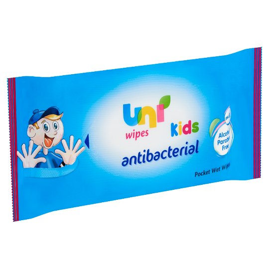 Uni Antibacterial Packet Wet Wipes for Kids 15 pcs