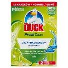 Duck Fresh Discs Lime WC-öblítő korong utántöltő 2 x 36 ml