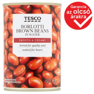 Tesco Borlotti Brown Beans in Water 400 g