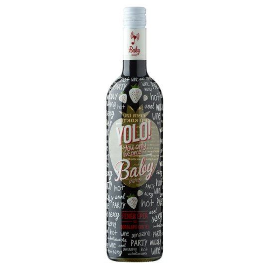Yolo! Baby White Strawberry Flavoured Wine-Based Cocktail 6% 750 ml