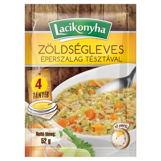 Lacikonyha Vegetable Soup with Strawberry Ribbon Pasta 52 g