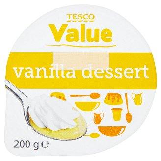 Tesco Value vaníliaízű desszert habbal 200 g