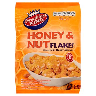 Breakfast King Honey & Peanut Flakes with Vitamins and Iron 250 g