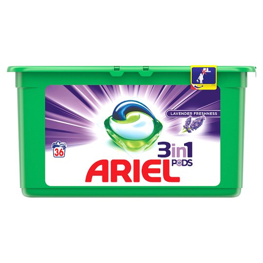 Ariel 3in1 Pods Lavender Washing Capsules 36 Washes