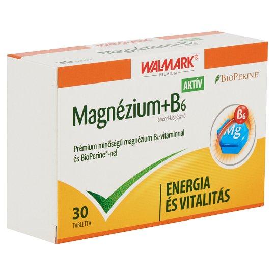 Walmark Premium Magnesium+B₆ Active Food Supplement Tablets 30 pcs 21 g