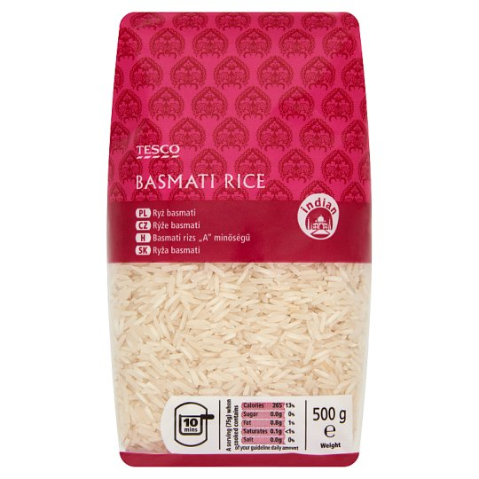 "Tesco ""A"" Quality Basmati Rice 500 g"