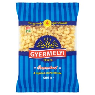 Gyermelyi Thick Twisted Dry Pasta Made from Wheat Flour with 4 Eggs 500 g