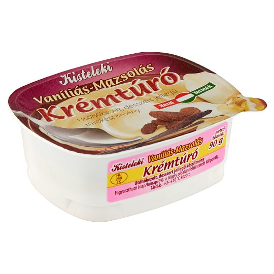 Kisteleki Vanilla-Raisin Cottage Cheese Cream 90 g