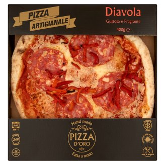 Pizza D'Oro Diavola Quick-Frozen Handmade Pizza 400 g