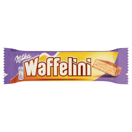 Milka Waffelini Alpine Milk Chocolate Covered Wafer Filled with Milk Cream 31 g