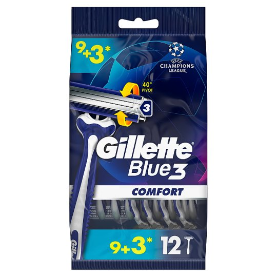 Gillette Blue3 Comfort Men's Disposable Razors 9+3