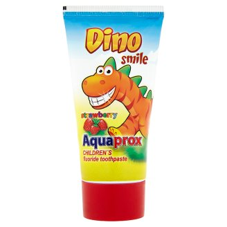 Aquaprox Dino Smile Strawberry Flavoured Toothpaste for Kids with Fluoride 60 g