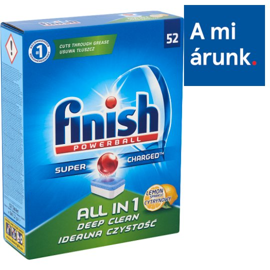 Finish All in 1 Lemon Sparkle Dishwasher Tablets 52 pcs